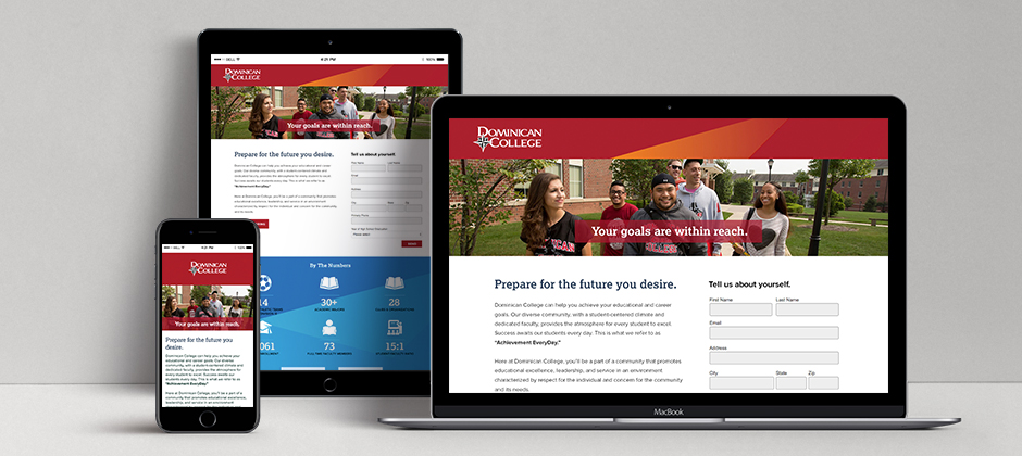 Dominican College Landing Page