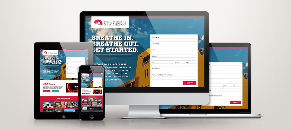University of New Mexico Landing Page
