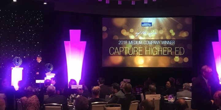 Capture Higher Ed Named Business of the Year