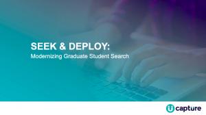 Graduate Student Search Webinar