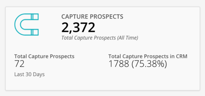 Capture Prospects Widget screenshot