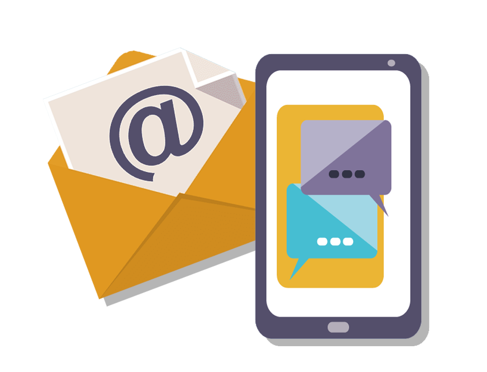 envelope and phone icon