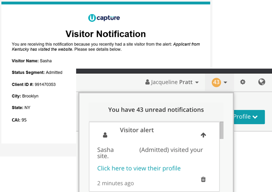Visitor Notifications screenshot